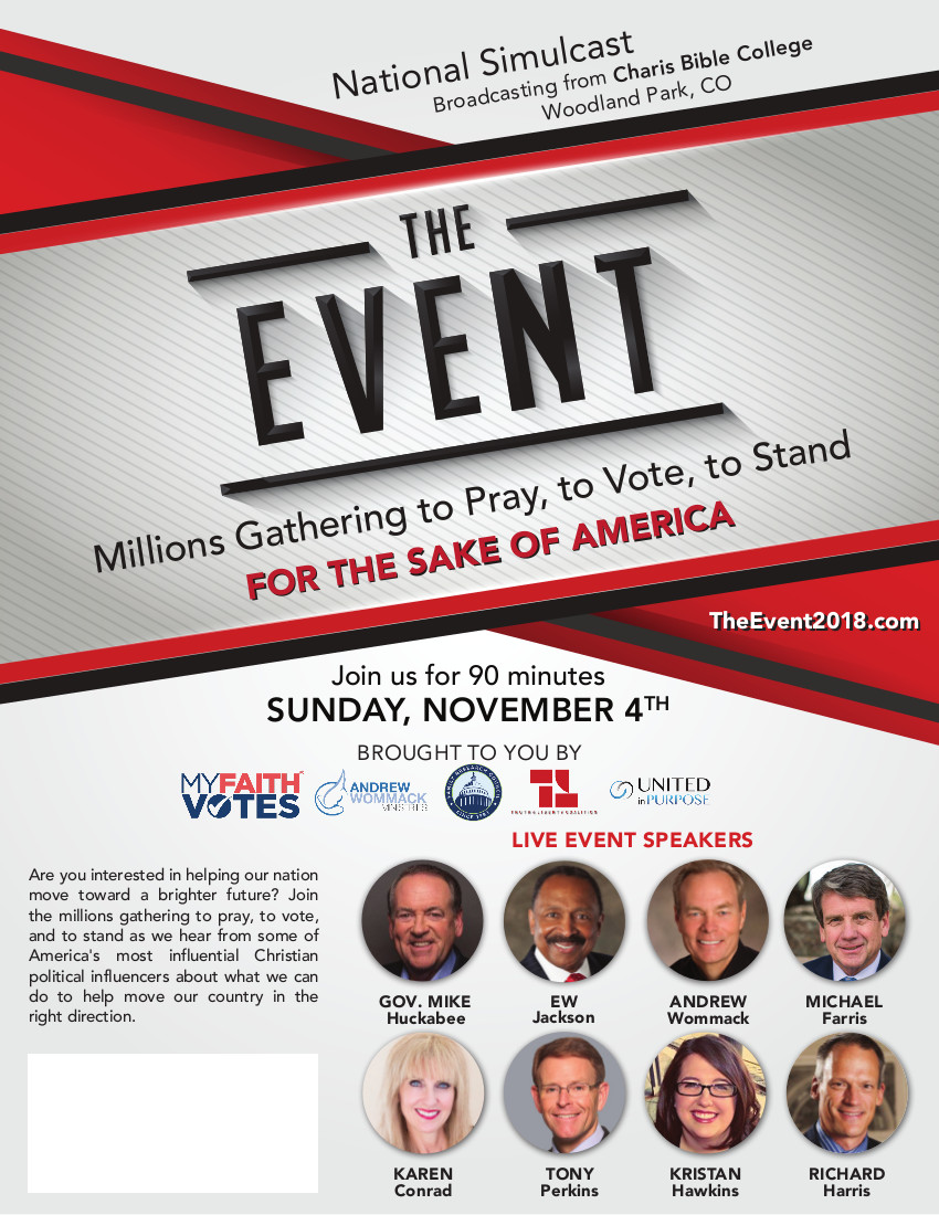 THE EVENT – Millions Gathering to Pray, to Vote, to Stand